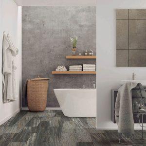 Bathroom view with Vinyl flooring | Flooring By Design