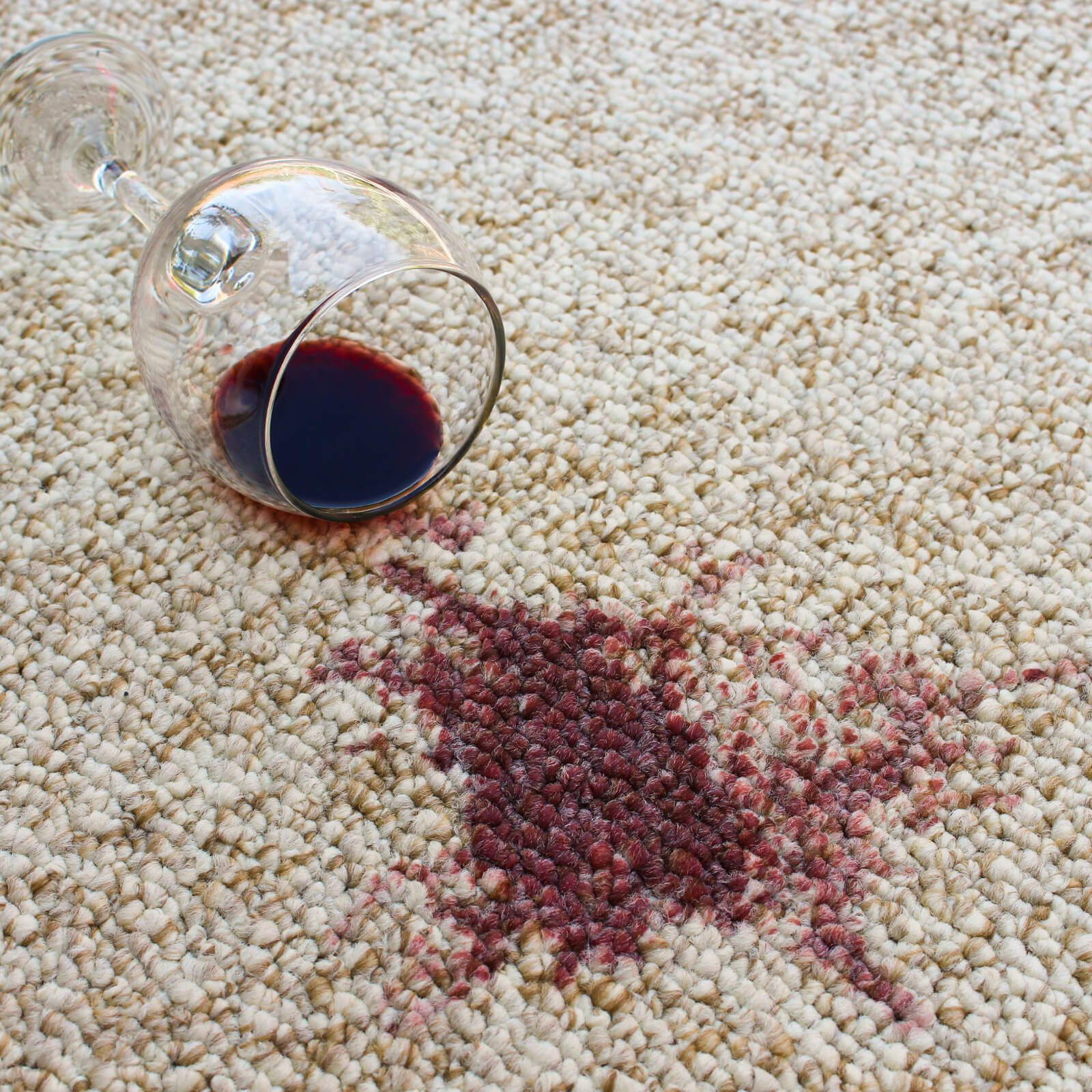 Carpet wine stain | Flooring By Design