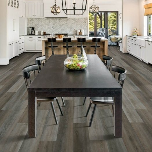 Laminate flooring in dining room | Flooring By Design