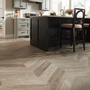 Glee Chevron wall Boca Hex Pol | Flooring By Design