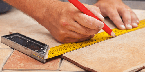 Tile installation with proper measurements | Flooring By Design