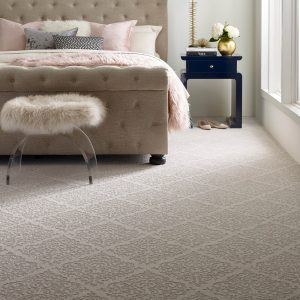 Designed Carpet in bedroom | Flooring By Design