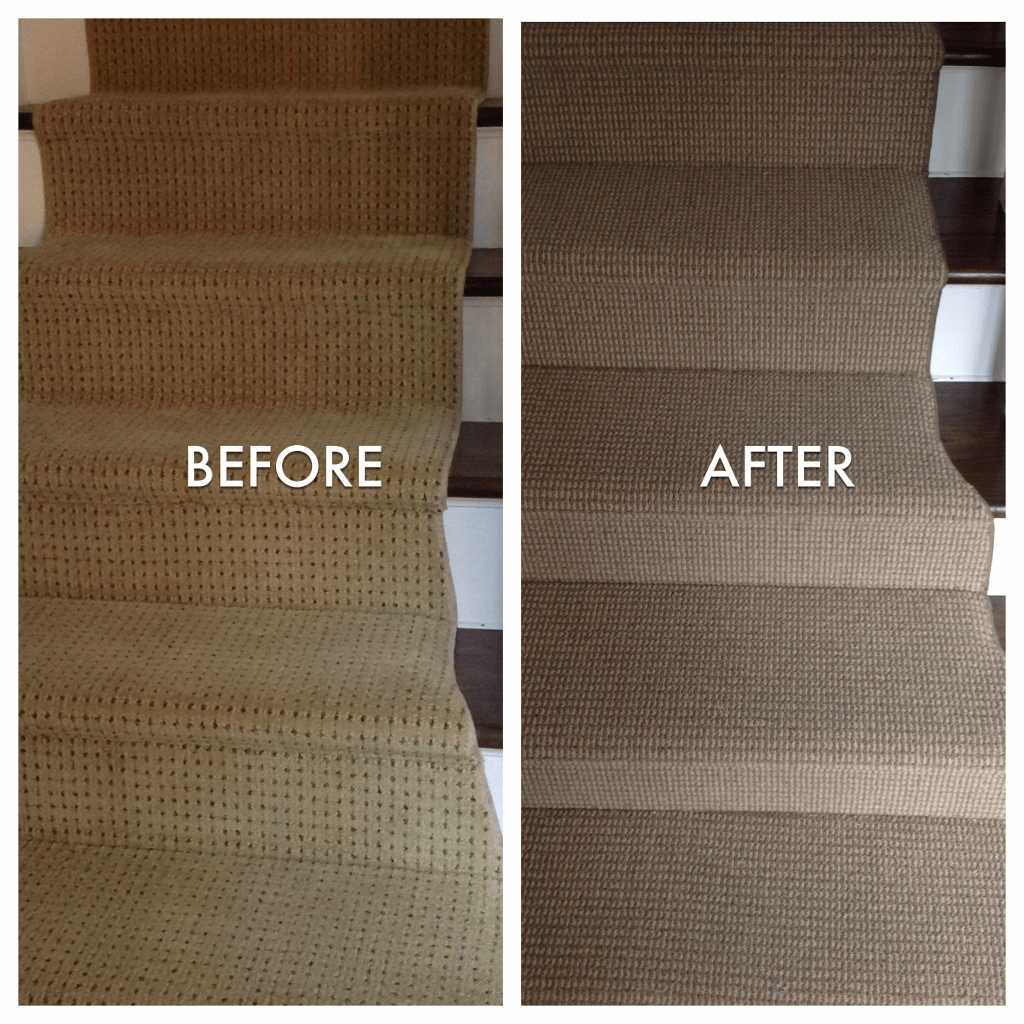Before after stairs carpeting | Flooring By Design