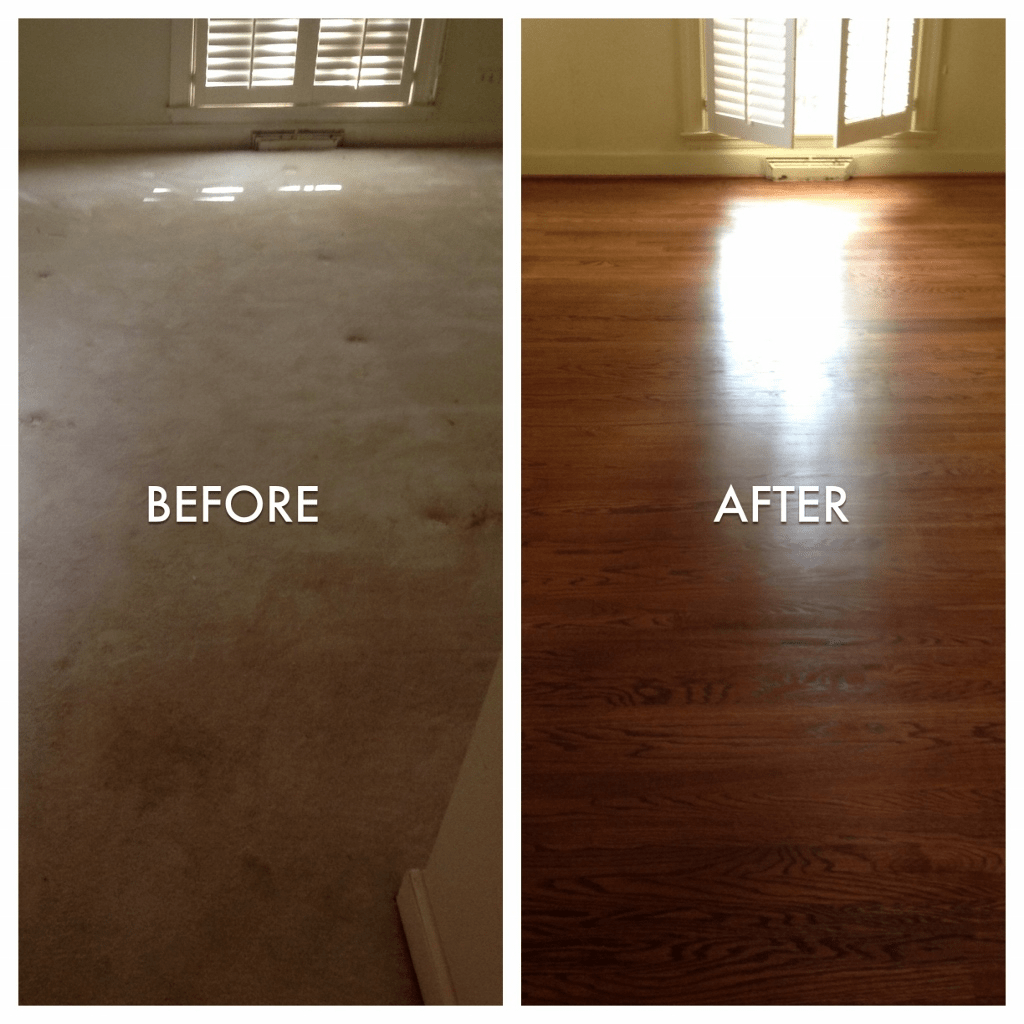 Before after floor installation | Flooring By Design