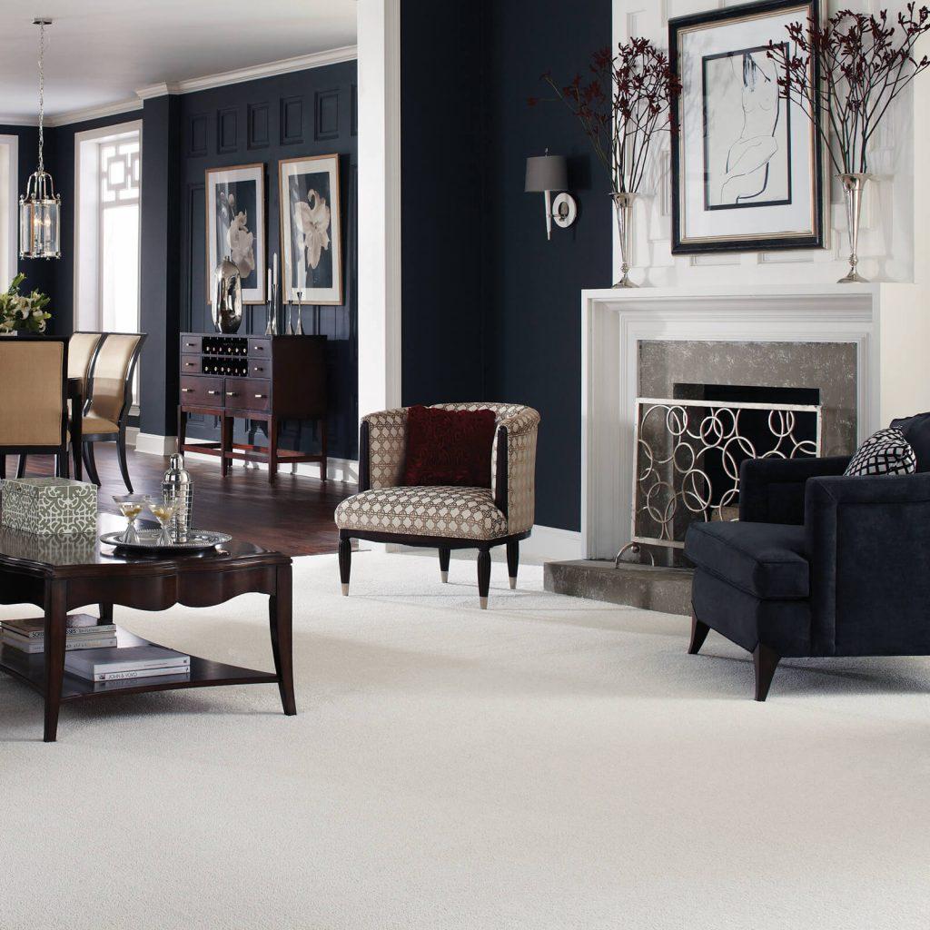 White Carpet in Living room | Flooring By Design